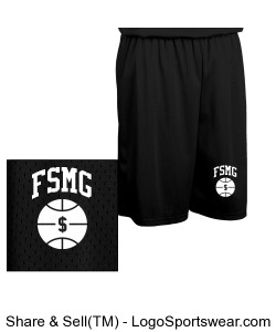 "FSMG ""BUCKETS"" Basketball ShortS Design Zoom"